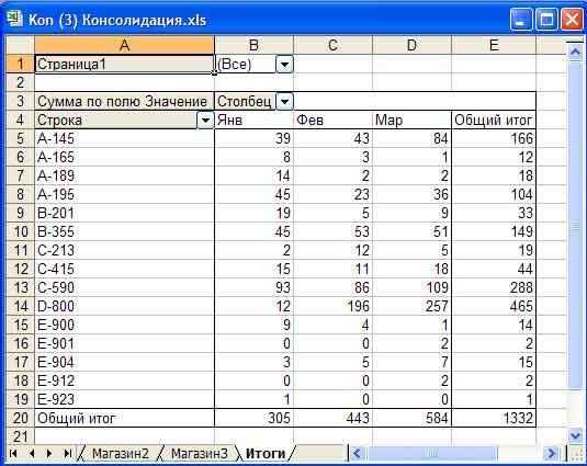 ris177 2 Гипертекстовое учебное пособие «Сводный анализ в MS Excel